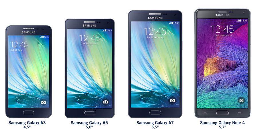 Samsung Galaxy A7 Samsungs Metalen Telefoonlijn Breidt