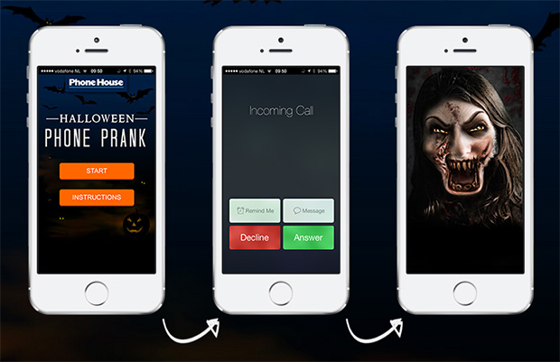 Halloween iPhone Prank