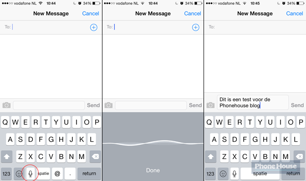 messaging voice small