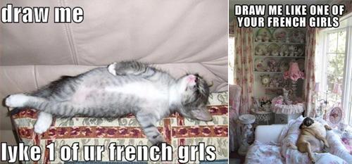 french girl meme