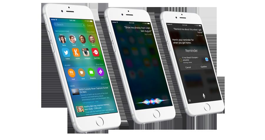3 iphones siri
