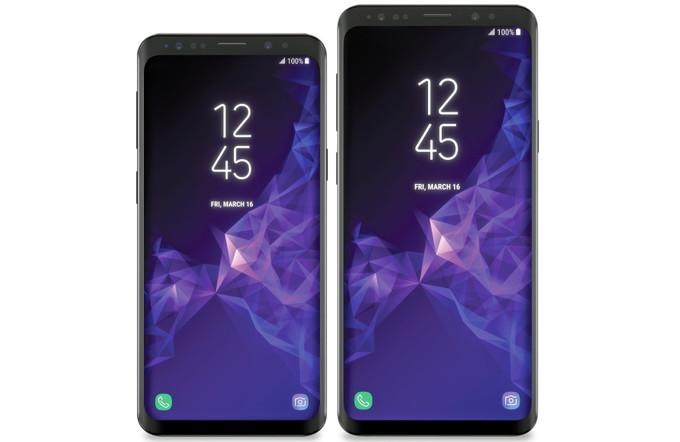 Gelekte renders Samsung S9
