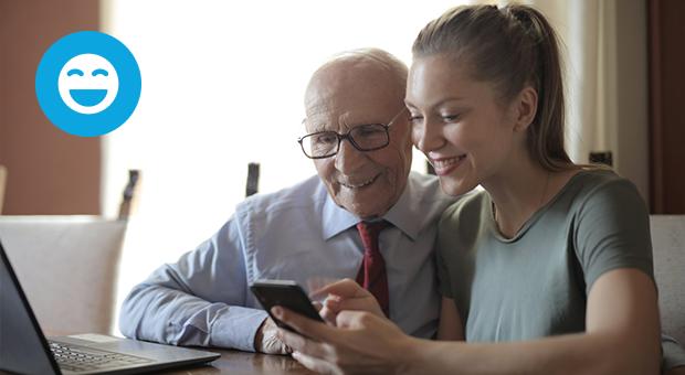 opa dochter smartphone vaderdag cadeau tips