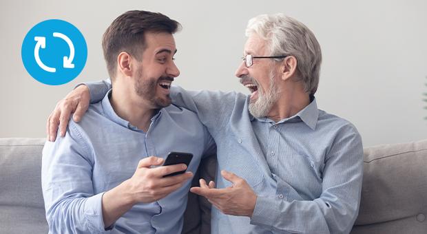 vader zoon smartphone lach vaderdag cadeau tips